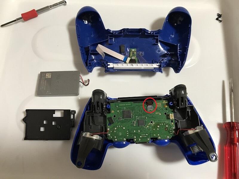 PS4コントローラー タッチパッド部分