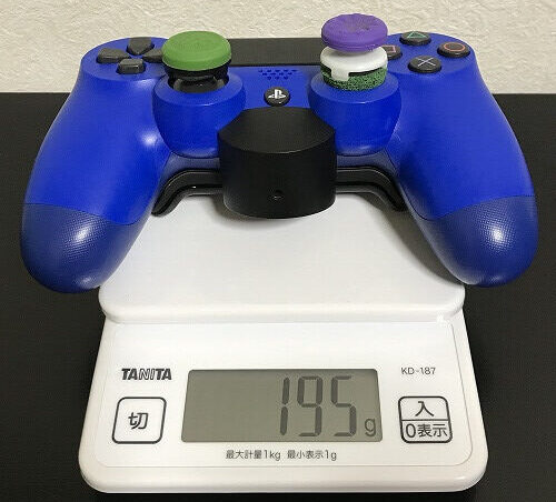 PS4コントローラー 振動モーターなし重量