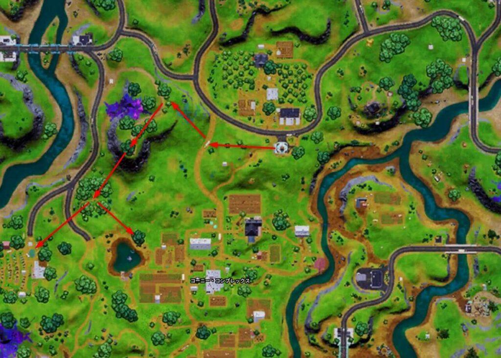 オーチャード立ち回り地図