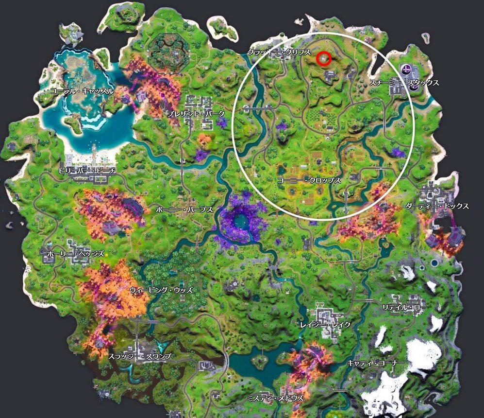安地が北側マップ
