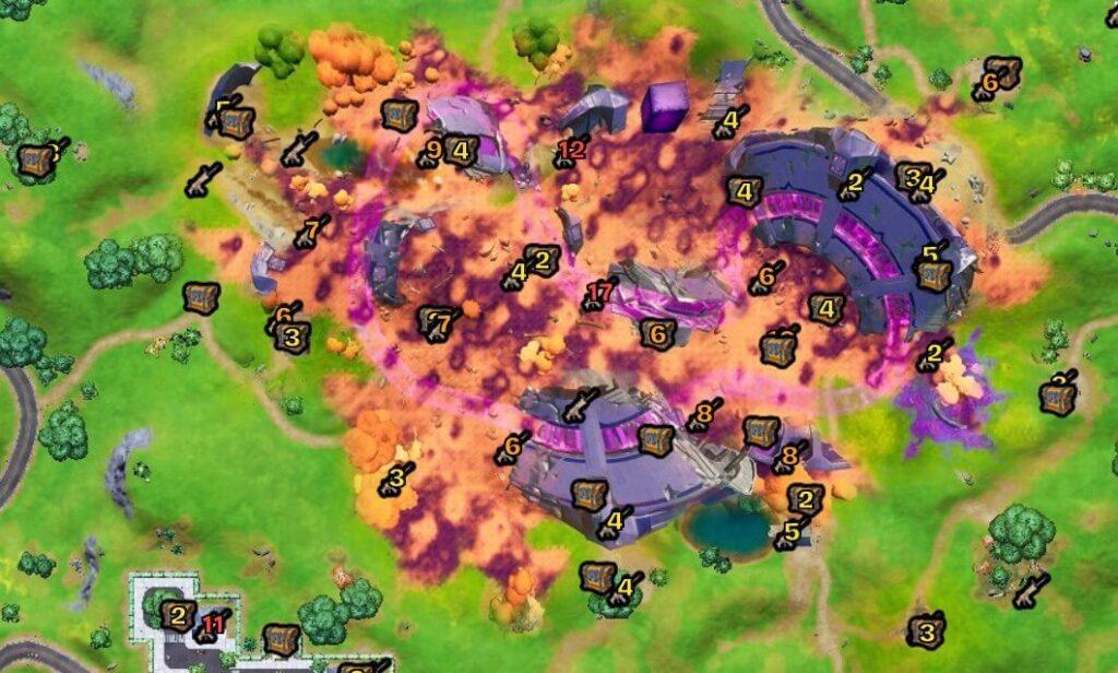 ピンクのジェットコースターマップ